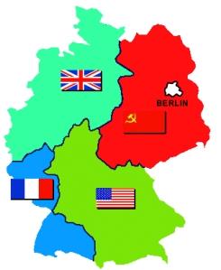 partition de l'Allemagne après la conférence de Potsdam